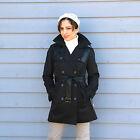 New $150 Womens Size S (4-6) NINE WEST Rain Coat Trench Jacket w/Contrast Detail