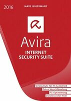 AVIRA Internet Security Suite 2016 - 1 PC - 1 Jahr - Vollversion * DE Lizenz