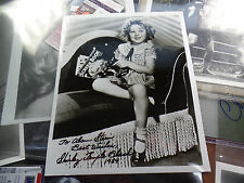 Shirley Temple signed auto legendary adorable as child AUTOGRAPHED PEFRECTLY