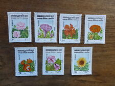 CAMBODIA 1983 FLOWERS SET 7 MINT STAMPS