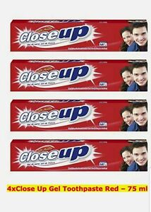 3 x Close Up Red Toothpaste For Fresh Smile 3x 75ml