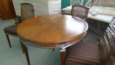Henredon 8 Pc Round/Oval Dining Table , 4 Chairs And Credenza/Buffet