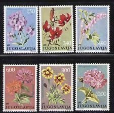 YUGOSLAVIA 1977 MNH SC.1325/1330 Flowers