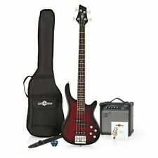 Chicago Bass Guitar 15w Amp Pack Trans Red Burst