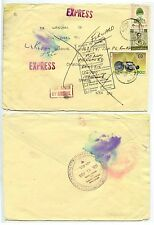 THAILAND SIAM to CANADA EXPRESS DELIVERY AIRMAIL UNDELIVERED + FORWARDED 1991
