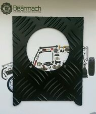 Land Rover Defender 90, Fuel Chequer Plate + Black Rivets, UP TO - VIN WA159806