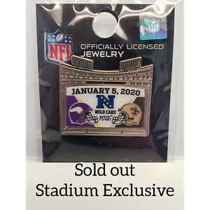 Minnesota Vikings VS New Orleans Saints 1/5/20 Game Day Pin NFC WILDCARD Playoff