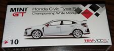 TSM Model Mini GT 1/64 Honda Civic Type R FK8 Championship White Modulo Edition