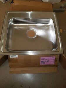 """Elkay Gourmet [Lustertone] Single Bowl Sink - Primary Bowl Depth: 4"""" - 0 Holes"""