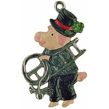 Kuhn Hand Painted Pewter From Germany.Mini Luckey Pig Chimney-Sweep 517C