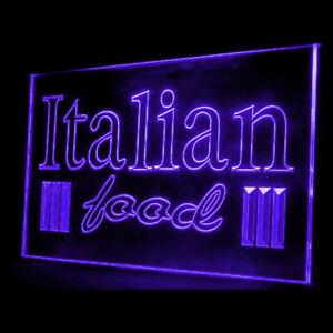 110047 OPEN Italian Food Restaurant Ham Olive Oil Display Neon Sign