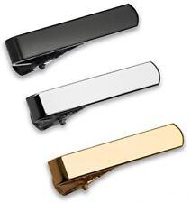 3 Pc Conjunto de Clip de Corbata Bar, 2.8 Cm para Muy Delgada Corbatas De Plata, Negro, Oro Con