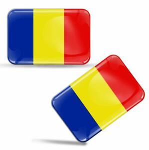 3D Gel Domed Romania Flag Romanian Sticker RO Logo Emblem Badge Decal Auto Moto
