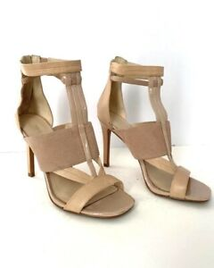 "Nine West ""Kira Lee Nude Heels Size 6 Fashion Style"