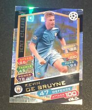 Match Attax Champions League 2016/2017 Kevin De Bruyne 100 club card