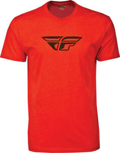 Fly Racing ADULT F-wing Tee Shirt Red Mens Size S-2XL