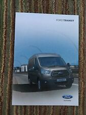 FORD - Transit UK Sales Brochure August 2015