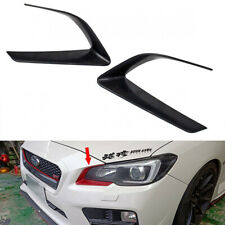 Unpainted ABS For Subaru WRX STI 4th 4DR Front Light Eye Trim Cover 2015-2016