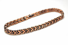 LADIES 10.75 IN LOVING COPPER HEARTS HEALING MAGNETIC LINK ANKLET: For Pain!
