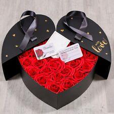 LUXUS BIG Infinity Rosen Box Herz Rosenherz ewige Rosen Ich liebe Dich Geschenk