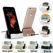 Cell Phone Docking Station Micro Usb And Type C Charger Desk Stand Holder Mounts