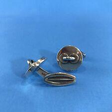 Vtg Hans Hansen Modernist Cufflinks Sterling Silver Button 631 Denmark 1950s-60s