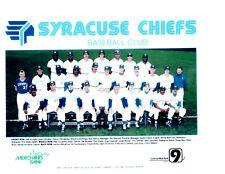 1989 SYRACUSE CHIEFS 8x10 TEAM PHOTO NEW YORK SOJO GUZMAN HILL BAILOR