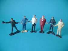 VINTAGE LOT OF 6 JAMES BOND 007 CHARACTERS FIGURES GILBERT 60'S