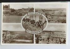 Postcard Step Rock St Andrews RP  Fife Swimming Pool 1936