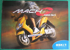 MBK SCOOTER MACH G  DEPLIANT CATALOGO BROCHURE CATALOG