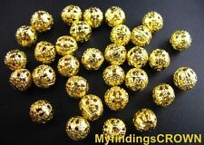 1000Pcs Gold plated filigree spacer beads 6mm FREE SHIP #10285GP