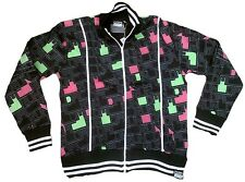 Wow amplified Run DMC 80'ies'er discoteca club all over Print portero Wow chaqueta M