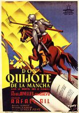 Don Quijote Rafael Gil vintage movie poster print