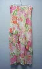 RAFAELLA Womens Floral White Green Pink Orange Polyester Long Skirt   8   NEW