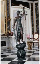Greek Goddess Justice is Blind Statue Bronze Finish Grande Size Themis Sculpture
