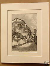 SS GIOVANNI E PAOLO ROME ITALY V RARE ANTIQUE ENGRAVING FROM c1890 PUBLICATION