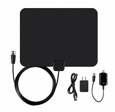 Ematic EDT201ANT Ultra-Thin Indoor HDTV Antenna with Amplifier 50-Mile Range