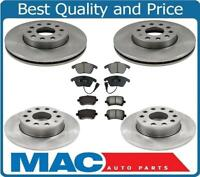 100% New Front & Rr Disc Brake Rotors W Ceramic Pads for 06-09 Volkswagen Rabbit