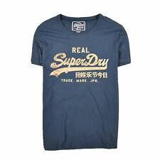 Superdry Herren T-Shirt Shirt Classic Gr.L Vintage Blacklabel Navy Blau 87738