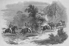 SOUTH AFRICA. Seventh Kaffir War. Cape Mounted Rifles pursuing Negroes, 1847