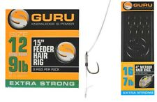 GURU READY TIED METHOD / FEEDER HAIR RIGS 4IN / 15IN - ALL SIZES AVAILABLE