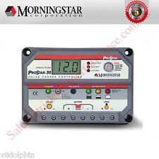 Morningstar PROSTAR 30a 12-24v Solar Charge Controller Regulator