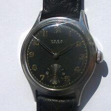 Rare Military Wristwatch VASA Sport Swiss made in Steel Case