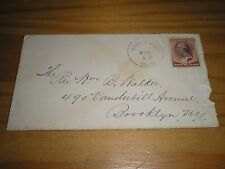 UNITED STATES Stamps 1887 PLAIN 2 Cents Brown COVER - VINELAND to BROOKLYN N.Y.