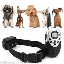 New 1000m LCD Rechargeable Water Resistant Remote Control Dog Training Collar
