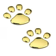 3d Chrome Dog Paw Footprint Sticker Decal Auto Car Emblem Decal Decoration S4v6