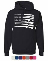 American Flag Hoodie 2nd Amendment Gun Rights Homeland AR15 Sweatshirt