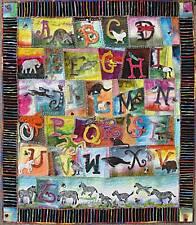 Alphabet in Wool, Felted Applique Pattern by Debora Konchinsky, Critter Pattern
