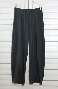 EILEEN FISHER $168 Gray Hemp & Organic Cotton Pull On Seamed Pants Size XS