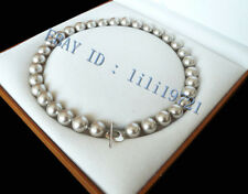 12mm AAA Silber Grau Shell Perlenkette 45CM